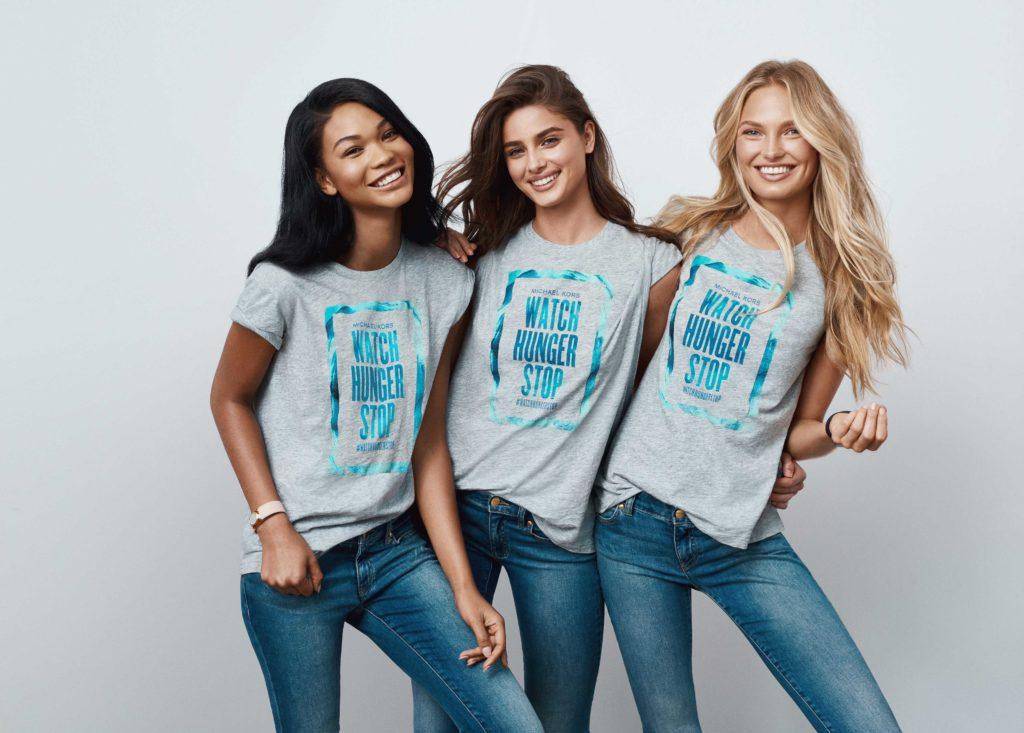 マイケル・コース飢餓撲滅キャンペーンでTシャツを無料配布