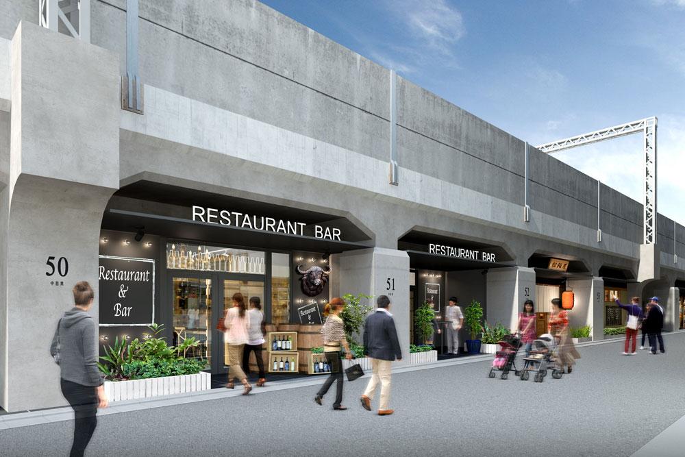 中目黒駅高架下にトレンドグルメが集まる商店街が誕生