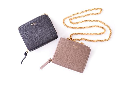マルベリーの便利なチェーン付きお財布が限定モデルで!