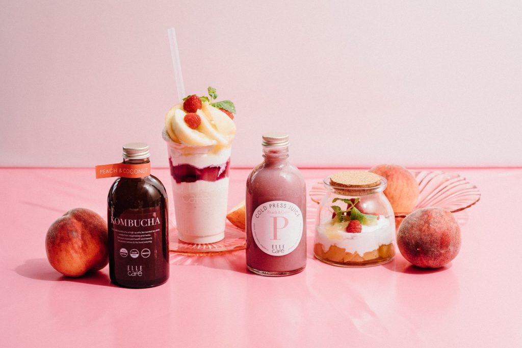 旬の白桃を使った限定メニューがELLE caféに期間限定で登場!