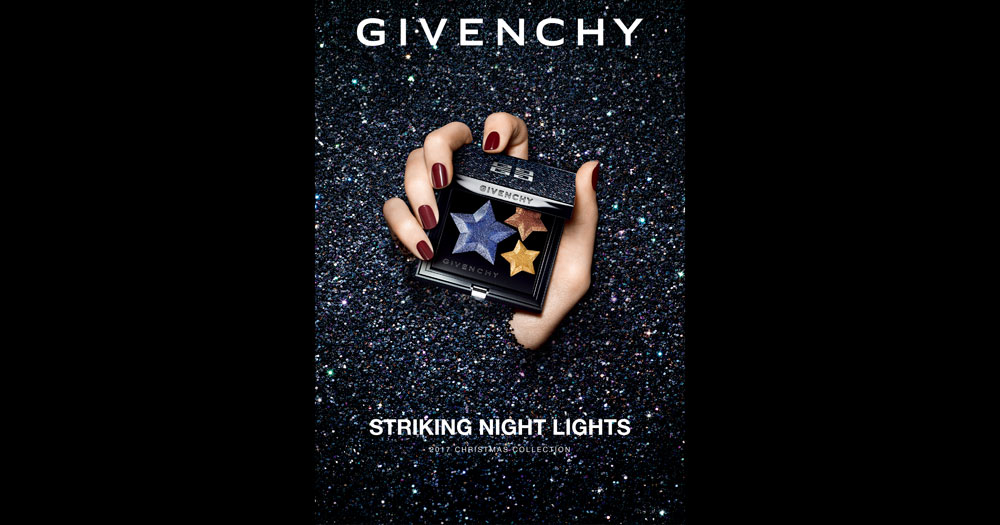 """ジバンシイ クリスマス コレクション 2017 テーマは""""STRIKING NIGHT LIGHTS"""""""