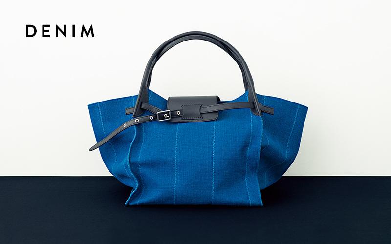 5796d1f77ea2 2017年秋冬に登場して以来大人気のバッグが、素材のバリエーション豊富に。上品なデニムブルーの色味は、どんなコーディネートにも合わせやすそう。