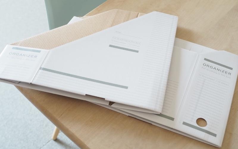 ■1.シンプルデザインがツボ!モノトーンのファイルボックス
