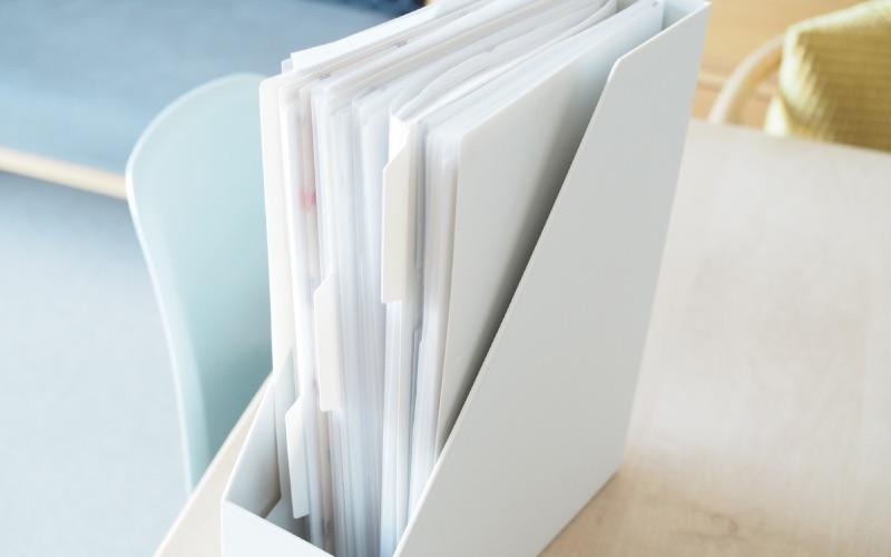 ■ファイルボックスと組み合わせた書類収納アイデア