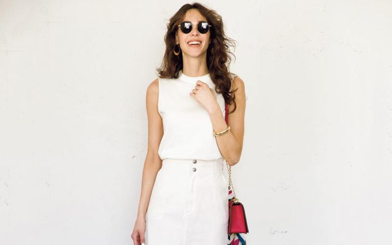 【今日の服装】スタイルアップ効果間違いなしのIライン白コーデ【アラサー女子】
