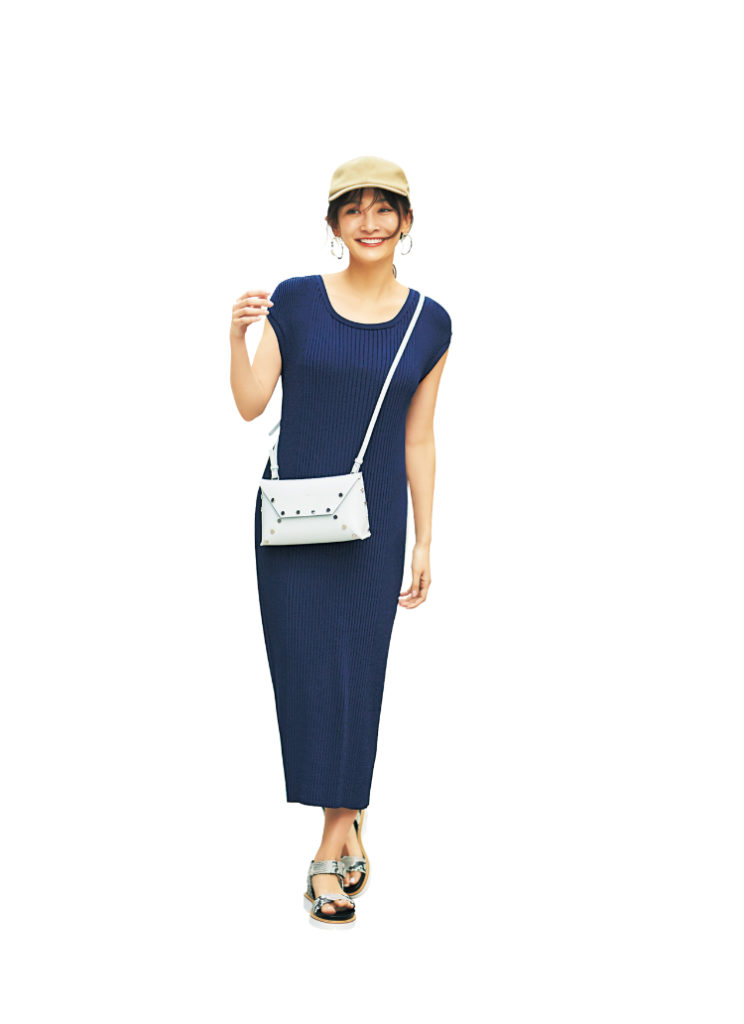 【今日の服装】痩せ見え効果を発揮するリブニットワンピ【アラサー女子】