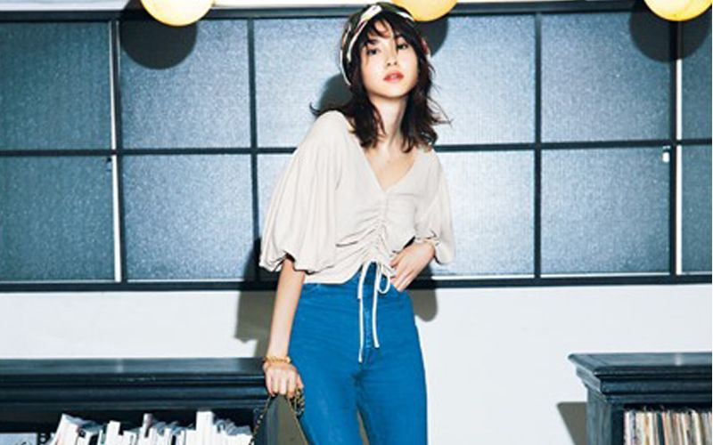 モデル絵美里のデニムスタイルを真似したい!
